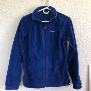 royal blue columbia fleece zip